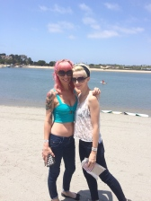 Kirsten and i at Newport Dunes, Sunday